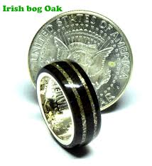 bog the wedding band celtic bog oak wedding rings with silver half dollar coin