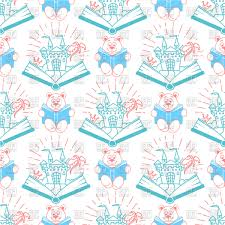 children s wrapping paper design vector clipart image 109809