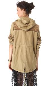 Free People Parka Free People Tapestry Pieced Parka In Natural Lyst