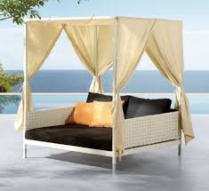 outdoor latest espresso peridot canopy outdoor patio daybed
