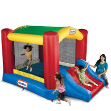 amazon com little tikes shady jump n slide bouncer toys u0026 games