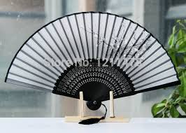 silk fan aliexpress buy vintage craft folding bamboo silk fan