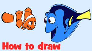 draw coloring dory nemo finding dory