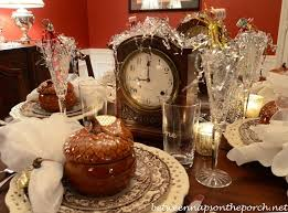 New Year S Eve Buffet Table Decorations by A New Year U0027s Eve Table Setting Antiques Clock And New Year U0027s