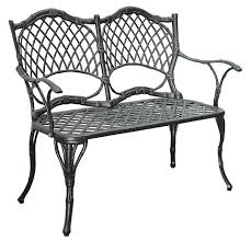 Black Rod Iron Patio Furniture Patio Furniture Bench Cast Aluminumiron Loveseat Black Bamboo Pics