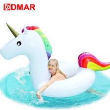 aliexpress com buy dmar inflatable unicorn swimming ring giant