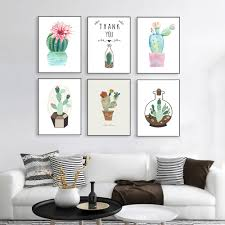 Nordic Home Decor Online Get Cheap Plant Painting Aliexpress Com Alibaba Group
