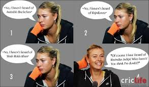 Maria Meme - maria sharapova compliments from russia with love cricket country