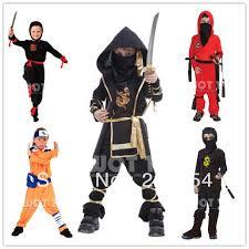 Ninja Halloween Costume Boys Aliexpress Buy Kids Red Black Ninja Costumes Cosplay
