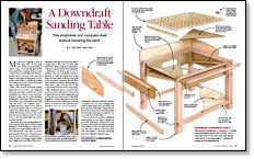 A Downdraft Sanding Table FineWoodworking - Downdraft table design