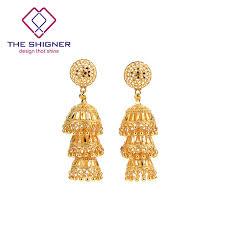 jhumki earring the shigner antique ethnic indian golden birdcage jhumka jhumki