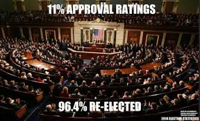 Congress Meme - congress has 11 approval ratings but 96 incumbent reelection rate