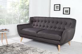 sofa 3er retro designklassiker 3er sofa scandinavia meisterstück anthrazit