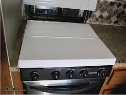 stove splash guard camco rv universal fit stovetop cover and splash guard steel