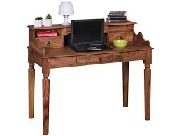 bureau contemporain bois massif bureau contemporain 115 cm en bois massif de sheesham vente de