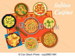 indian cuisine menu indian cuisine spicy dishes for lunch menu design indian vector
