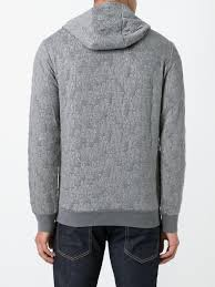 armani jeans all over logo hoodie men clothing armani underwear