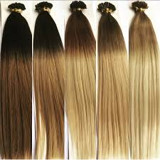 pre bonded hair extensions 18 stick i tip ombre remy human hair extensions 1g mooi hair