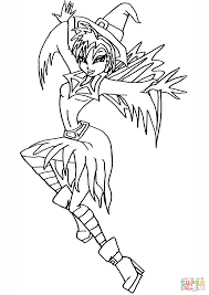 winx club fairy witch coloring page free printable coloring pages