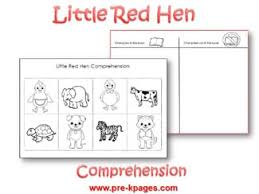 little red hen comprehension activity little red hen red hen