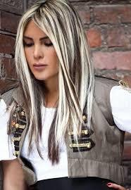 platinum blonde and dark brown highlights platinum blonde highlights inspiration for teenage