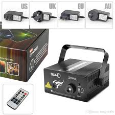 remote audio video lighting remote 2lens 20 patterns club bar blue red rb laser led 3w stage