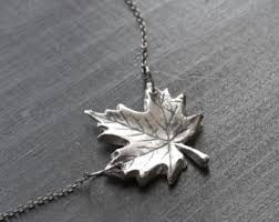 leaf charm necklace images Maple leaf necklace etsy jpg