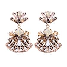 earrings online india fashion glass floral hanging earrings online shopping india women