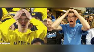 packers vs lions thanksgiving stunned michigan fan also a lions fan ncaa football sporting news