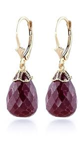 ruby drop earrings ruby crown briolette drop earrings 29 6ctw in 9ct gold 3280y