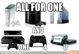 Xbox One Meme - yeah were the same ps4 xbox one and wii u meme by not a