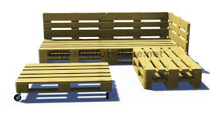 canap en palette et plans 3d de la façon de faire un canapé pour le