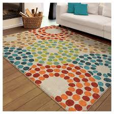 Area Rugs With Circles Orian Rugs Polka Circles Promise Indoor Outdoor Area Rug Target