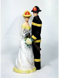 black cake toppers firefighters personalized wedding cake toppers