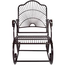 Gliders And Rocking Chairs Bcp Patio Iron Scroll Porch Rocker Rocking Chair Outdoor Deck Seat