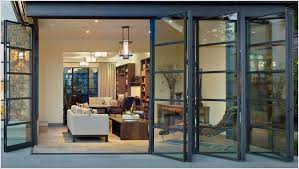 Exterior Glass Bifold Doors For An Open An Airy Feel Folding Sliding Glass Doors Are A Must