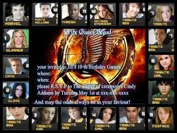 first birthday party invitations hunger games invite the fan art