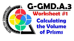 Volume Of Rectangular Prism Worksheet G Gmd A 3 Worksheet 1 Calculating Volume Of Prisms Youtube