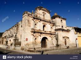 ruins of a church in antigua guatemala famous for its well