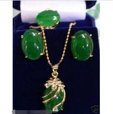 stone pendant necklace wholesale images Wholesale price 16new jewelry green stone pendant necklace jpg