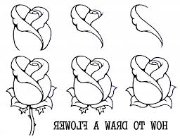 simple sketches step by step easy flower to draw step step drawing