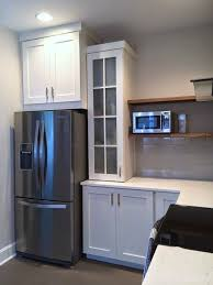Kitchen Pantry Door Ideas Skinny Pantry Cabinet With Full Length Frosted Glass Door