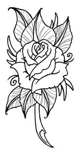 29 best rose tattoo outlines images on pinterest doodles draw