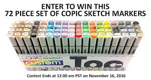 giveaway custom 72 piece set of copic sketch markers