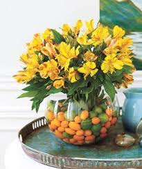 create a fishbowl centerpiece real simple