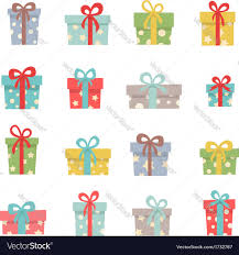 set of cute christmas gifts royalty free vector image