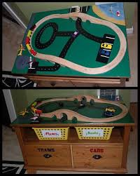 thomas the train activity table and chairs renewed spaces diy train table play room pinterest train