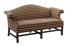 camelback sofa slipcovers camel back sofa black and tan fabric harvest house designs