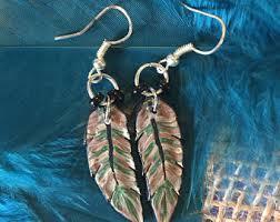 mr t feather earrings camo earrings etsy