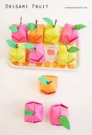origami fruit diy party craft or fun decor idea for a nursery or